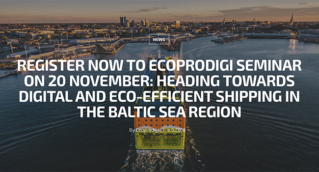 Digital and eco-efficient shipping in the Baltic Sea re-gion